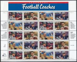 Amerikai fociedzők kisív Football coaches minisheet
