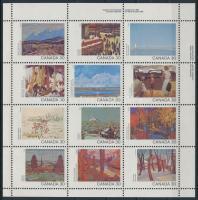 Kanada napja, Festmények teljes ív Canada Day, Paintings full sheet