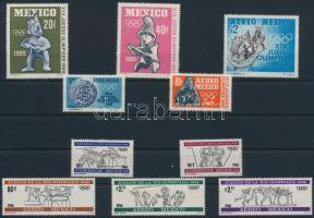1965-1966 Mexikói olimpia 2 klf sor 1965-1966 Mexico Olympics 2 diff sets