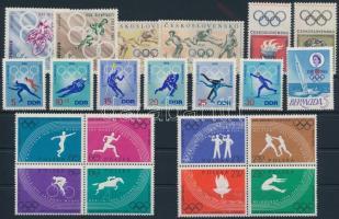 1960-1968 Olimpia 4 klf sor + 2 négyestömb + 1 önálló érték 1960-1968 Olympics 4 sets + 2 blocks of 4 + 1 stamp