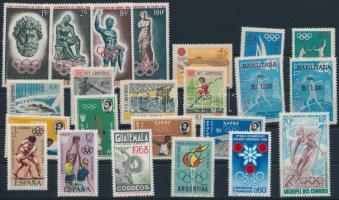 1960-1968 Olimpia 4 klf sor + 1 blokk + 8 önálló érték 1960-1968 Olympics 4 sets + 1 block + 8 stamps