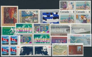 1979-1998 24 klf bélyeg + kisív 1979-1998 24 stamps + mini sheet