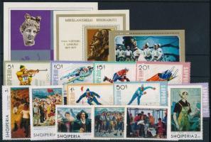 1970-1976 13 klf bélyeg + 3 klf blokk 1970-1976 13 diff stamps + 3 blocks