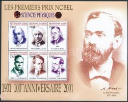 Nobel-díjasok 12 klf érték 2 db kisívben (sérült ívszél) Nobel Laureates 12 values 2 mini sheets (damaged margin)