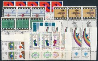 1979-1980 6 klf sor + 2 klf 5-ös csík + 3 klf pár + 1 önálló érték 2 db stecklapon 1979-1980 6 sets + 2 stripes of 5 + 3 pairs + 1 stamp