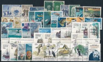 1957-1993 17 klf sor + 5 klf önálló érték 2 db stecklapon 1957-1993 17 set + 5 stamps