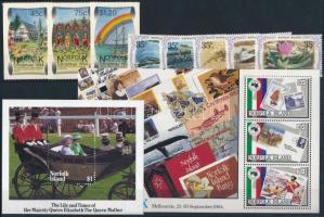 1982-2001 21 db bélyeg, közte teljes sorok, blokkok és öntapadós értékek 2 stecklapon 1982-2001 21 stamps
