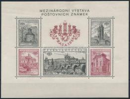 Nemzetközi Bélyegkiállítás Prága blokk International Stamp Exhibition Prague block