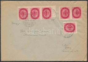Inflation cover 1946 (16. díjszabás) Távolsági levél Milliós 6 x 20mP bérmentesítéssel, 17. díjszabás szerint bérmentesítve + tartalom
