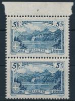 Definitive stamp in margin pairs, Forgalmi bélyeg ívszéli párban