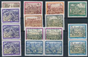 1984-1990 10 klf bélyeg köztük hármascsík, párok 1984-1990 10 diff stamps with stripe of 3, pairs