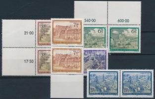 1984-1989 4 klf bélyeg párokban, közte 1 üresmezős változat + 1 önálló érték 1984-1989 4 diff stamps in pairs with 1 blank-field version + 1 stamp
