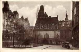 Praha, Prag; Stara Synagoga / old synagogue, automobile