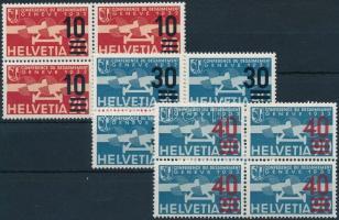 Repülőposta sor négyestömbökben Airmail set in blocks of 4