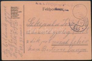 """Field postcard """"K.u.k. Feldjägerbataillon Nr.32."""" + """"EP 445 a"""" Tábori posta levelezőlap """"K.u.k. Feldjägerbataillon Nr.32."""" + """"EP 445 a"""""""