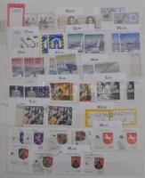 NSZK 1990-1995 párhuzamos bélyegzett és postatiszta gyűjtemény 10 lapos berakóban / FRG paralell mint and used collection (Mi EUR 500,-)