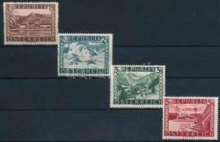 Tájak sor záróértékei Landscapes closing stamps