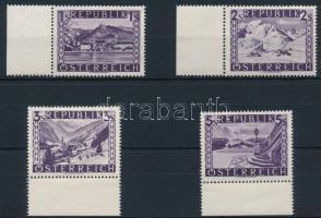 Tájképek sor 4 ívszéli záróértéke Landscapes 4 margin closing stamps