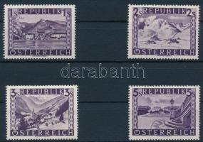 Tájképek sor 4 záróértéke Landscapes 4 closing stamps