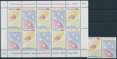 Nemzetközösségi Csúcstalálkozó sor + kisív Commonwealth Summit set + minisheet