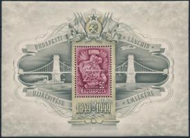 1949 Lánchíd III. blokk (75.000) (apró rozsdafolt / tiny stain)