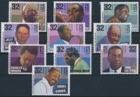 1995 Jazz zenészek sor Mi 2627-2636