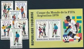 Labdarúgó világbajnokság sor + blokk Football World Cup set + block