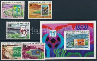 Labdarúgó VB sor + blokk Football World Cup set + block
