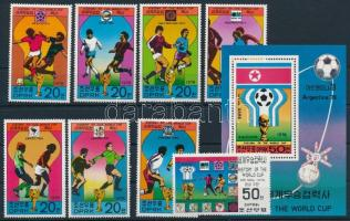 Labdarúgó VB 8 érték + blokk Football World Cup 8 stamp + block