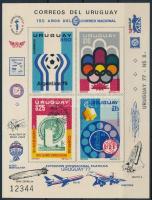 UPU, olimpia, labdarúgó vb, VIT sor vágott blokkformában UPU, Olympics, Football World Cup, VIT set imperforated blockform