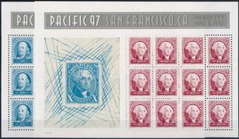 1997 PACICIC´97 Bélyegkiállítás alkalmi blokkkiadás párban Mi 2830-2831