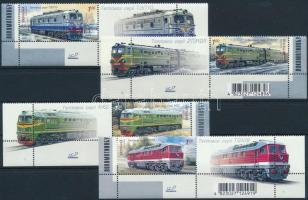Mozdonyok ívsarki szelvényes sor Locomotive corner set with coupon