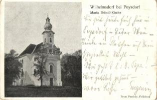 Wilhelmsdorf bei Poysdorf, Maria Bründl-Kirche / church