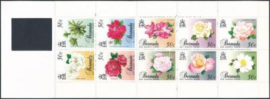 Kerti rózsák sor bélyegfüzetben Garden roses set stamp-booklet