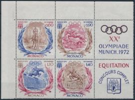 Nyári Olimpia, München szelvényes 4-es tömb Summer Olympics coupon block of 4