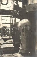 Sérült SMS Novara, K. u. K. haditengerészet Helgoland-osztályú gyorscirkálója az otrantó-i ütközet után / K.u.K. Kriegsmarine, Damaged SMS Novara after the Naval battle of Otranto, photo
