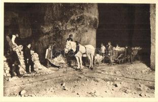 Wieliczka, Przewóz soli w kopalni / salt mine, carriage, interior