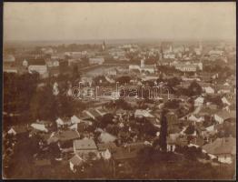 cca 1900 Kolozsvár látképe. Nagyméretű keményhátú fotó. Erdélyi Mór (1866-1934) fotója / Panoramic view of Cluj. 30x22 cm