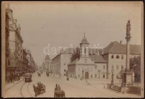 cca 1890 Budapest, VIII. Rókus kápolna (Vas utca). Nagyméretű keményhátú fotó. Erdélyi Mór (1866-1934) fotója. 30x21 cm