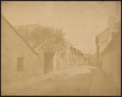 cca 1900 Budapest, II. Csapláros utca. Nagyméretű fotó. Erdélyi Mór (1866-1934) fotója. 28x23 cm