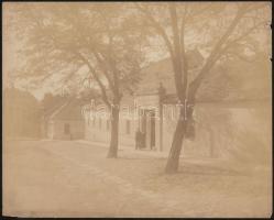 cca 1900 Budapest, I Ostrom utca. Nagyméretű fotó. Erdélyi Mór (1866-1934) fotográfiája. 28x23 cm