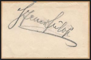 Szenes Fülöp (1863-1944) festőművész aláírása papírlapon