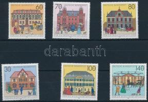 Posta épületek sor Postal Buildings set