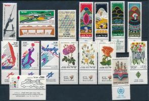 1981-1982 7 klf sor + 8 db önálló érték 2 stecklapon 1981-1982 7 sets + 8 stamps