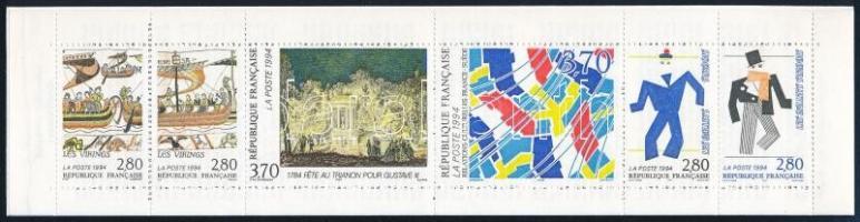 Kulturális kapcsolatok Franciaország és Svédország között bélyegfüzet Cultural Relationships between France and Sweden stamp-booklet