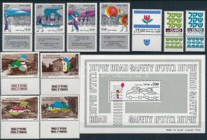 1980-1982 3 db sor + 1 blokk + 14 klf önálló érték 2 stecklapon 1980-1982 3 sets 6 + 1 block + 14 stamps