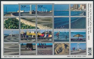 Nemzetközi Bélyegkiállítás; Tel Aviv blokk International Stamp Exhibition; Tel Aviv block