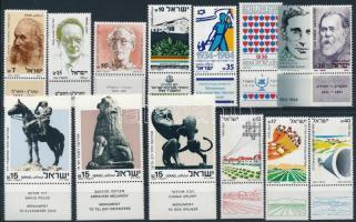 1983-1984 7 klf sor + 9 klf önálló érték 2 stecklapon 1983-1984 7 sets + 9 stamps