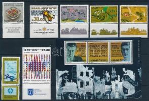 1983-1984 3 db sor + 1 blokk + 8 klf önálló érték 2 stecklapon 1983-1984 3 sets + 1 block + 8 stamps