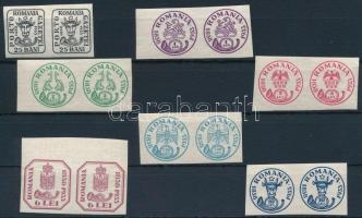 75 éves a román bélyeg sor párokban Romanian stamp set in pairs